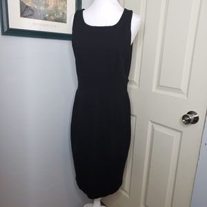 Banana Republic Black Knit Shift Dress Size 14. Ex